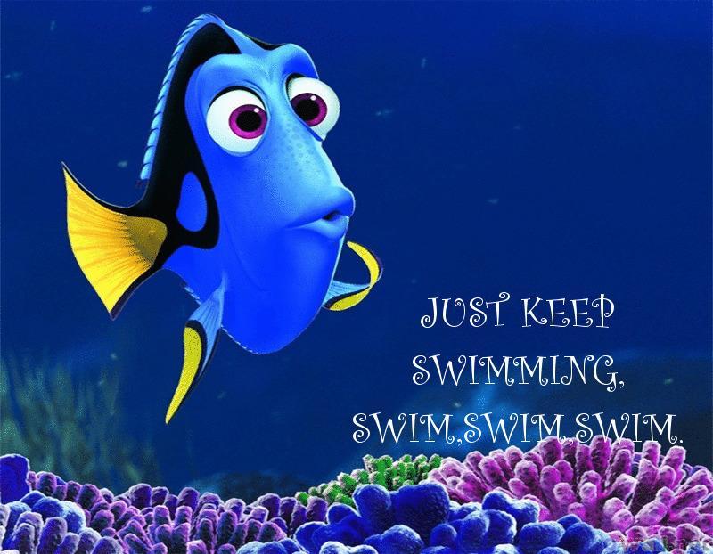 Just Keep Swimming Just Keep Swimming GIF - Fishy Fish ... |Just Keep Swimming
