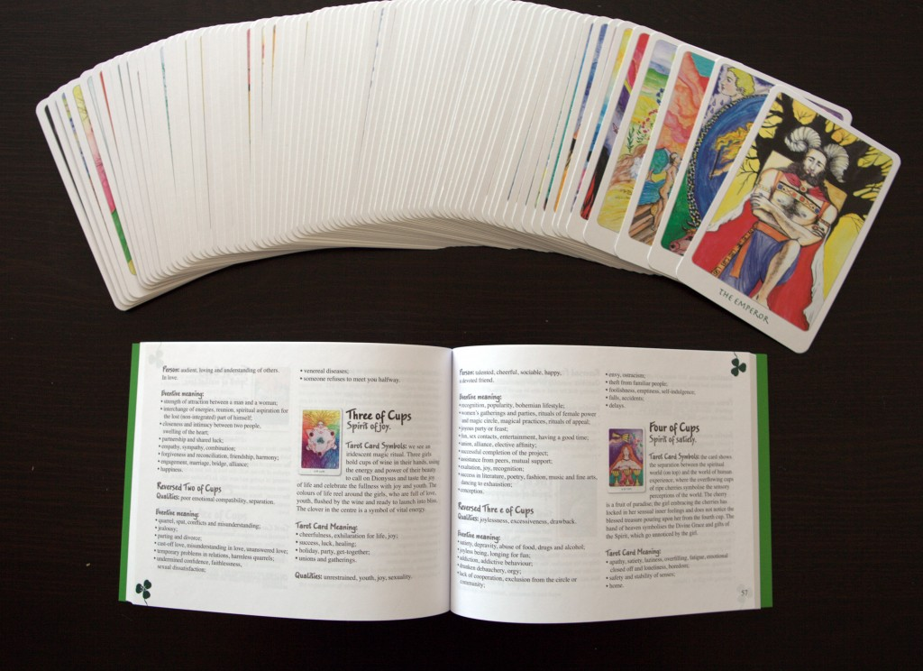 The Clover Tarot with Book