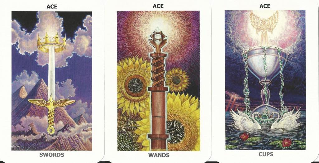The Sacred Isle Tarot Aces