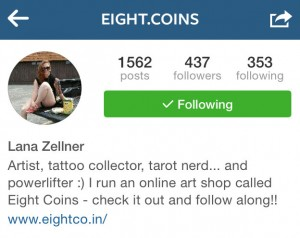 Eight.coins Instagram