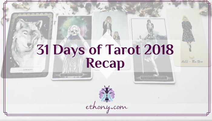 31 Days of Tarot 2018 Recap