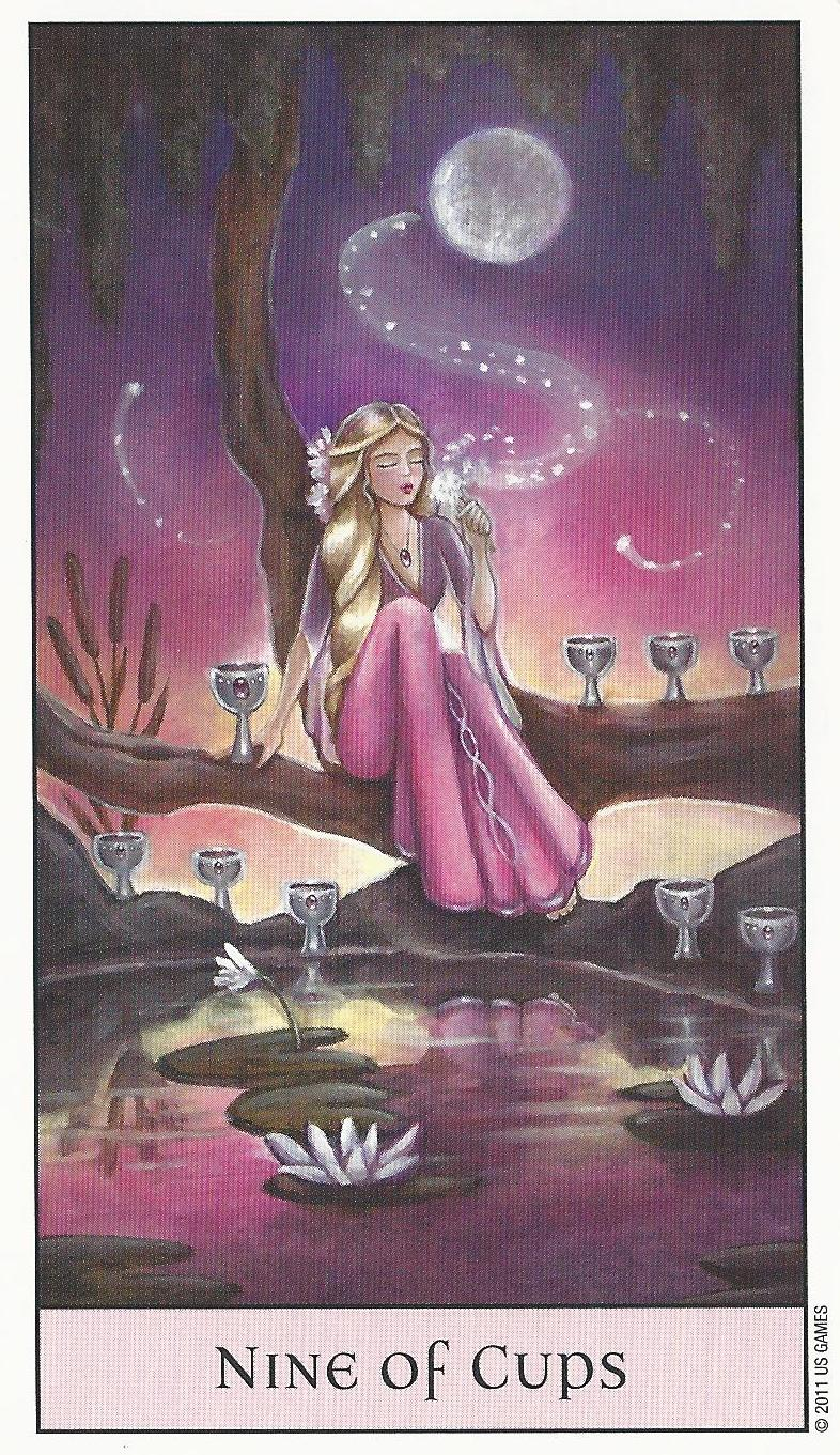 Nine of Cups - Crystal Visions Tarot - Ethony
