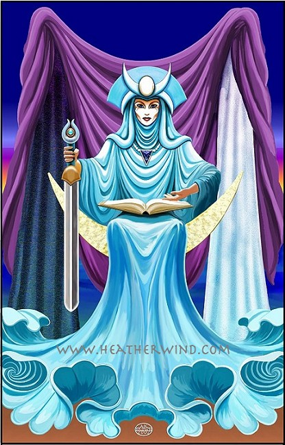 10 Awesome Pieces Of The High Priestess Tarot Art Ethony