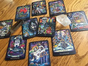 The Scary Cards in a Reading