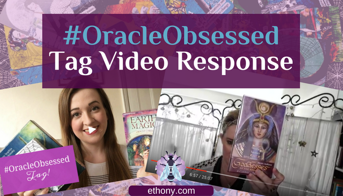 Title Image of Youtube thumbnails with purple banner and oracle cards background