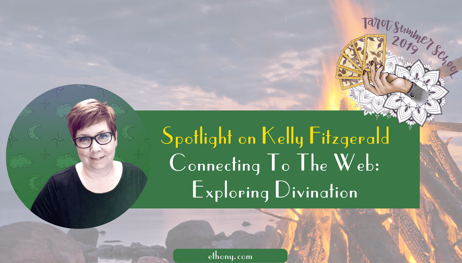connecting to the web exploring divination with Kelly Fitzgerald